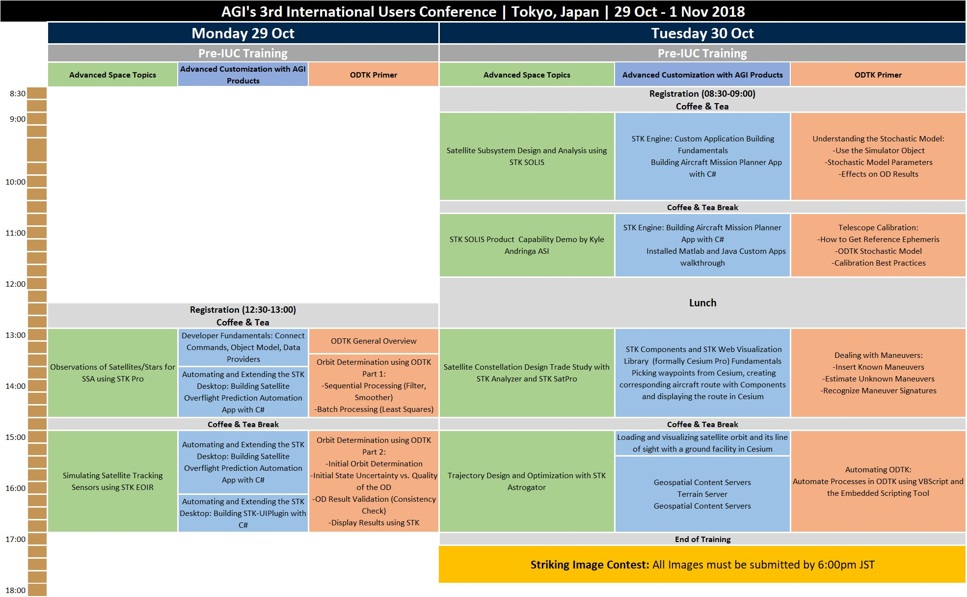IUC2018TrainingAgenda