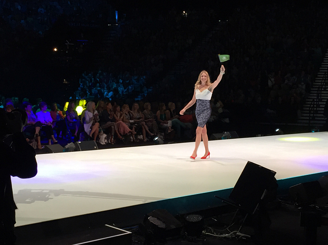 Zoe walking the stage as a new RVP at GTC 2016 in Las Vegas.