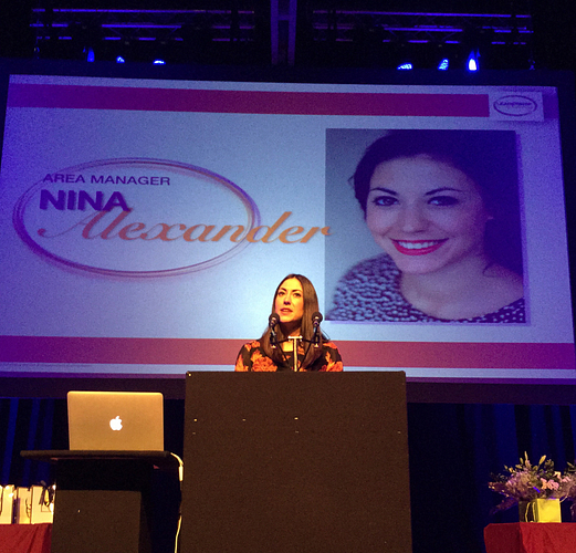 Nina training at a UK Leadership Academy.