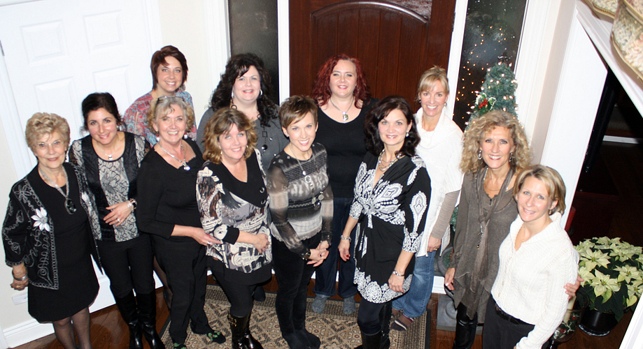 Back row: Christine Irwin, Katrena McKenna-Borges, Michelle Scrimgoeur Brown, Bea Bauer, Front row: Bev Andrews, Charlene Dupasquier, Susan Scrimgoeur, Judy Mitchell, Darla Khawaja, Lori Palozzi, NVP Lori Andrews and Trace Noonan.