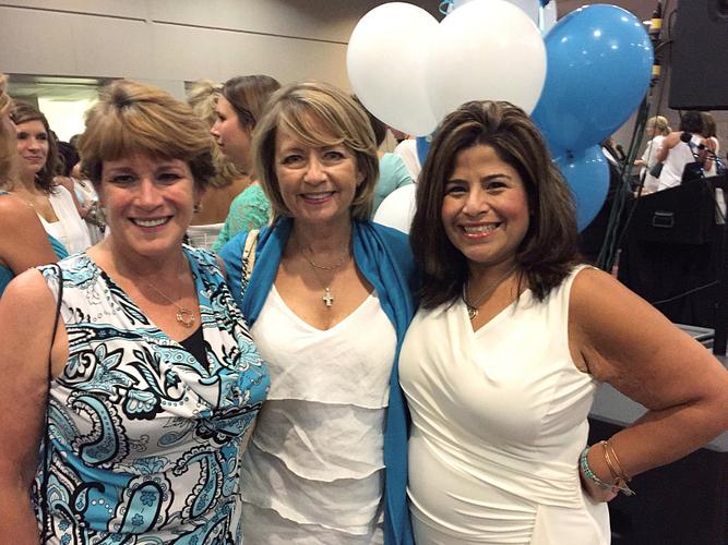 AM Sheila Frazier, Jane, and AM Ann Delgado at Green Bay Leadership Retreat 2015.