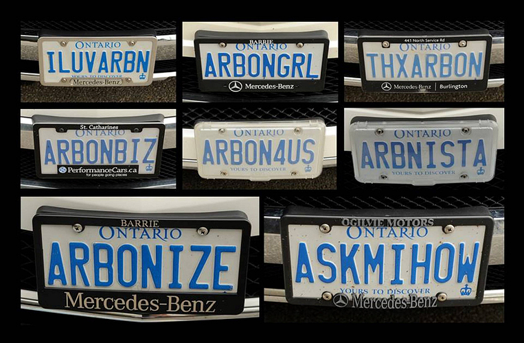 License plate frames including Lori's team.