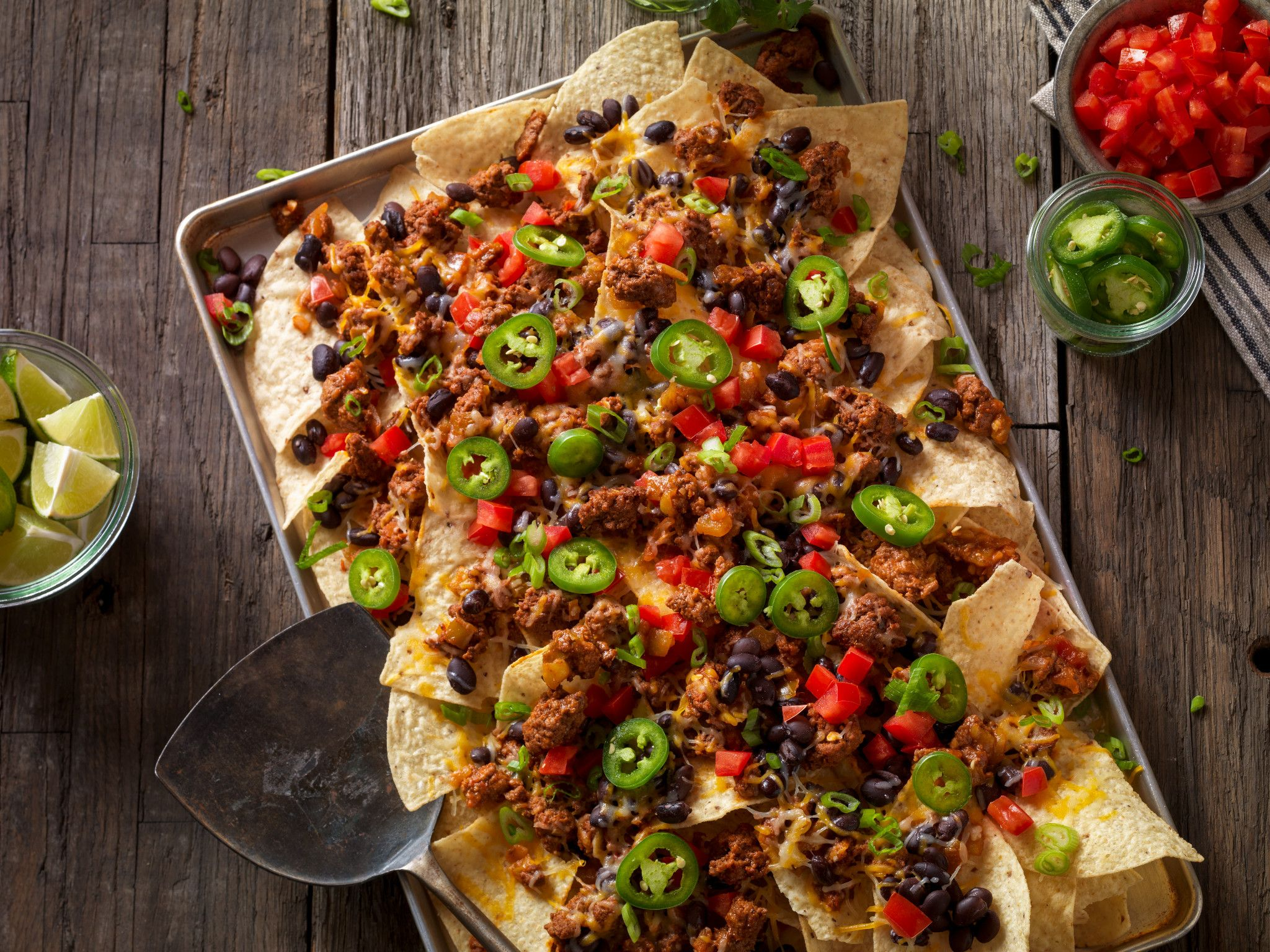 Mexican Style Beef Sausage Nachos