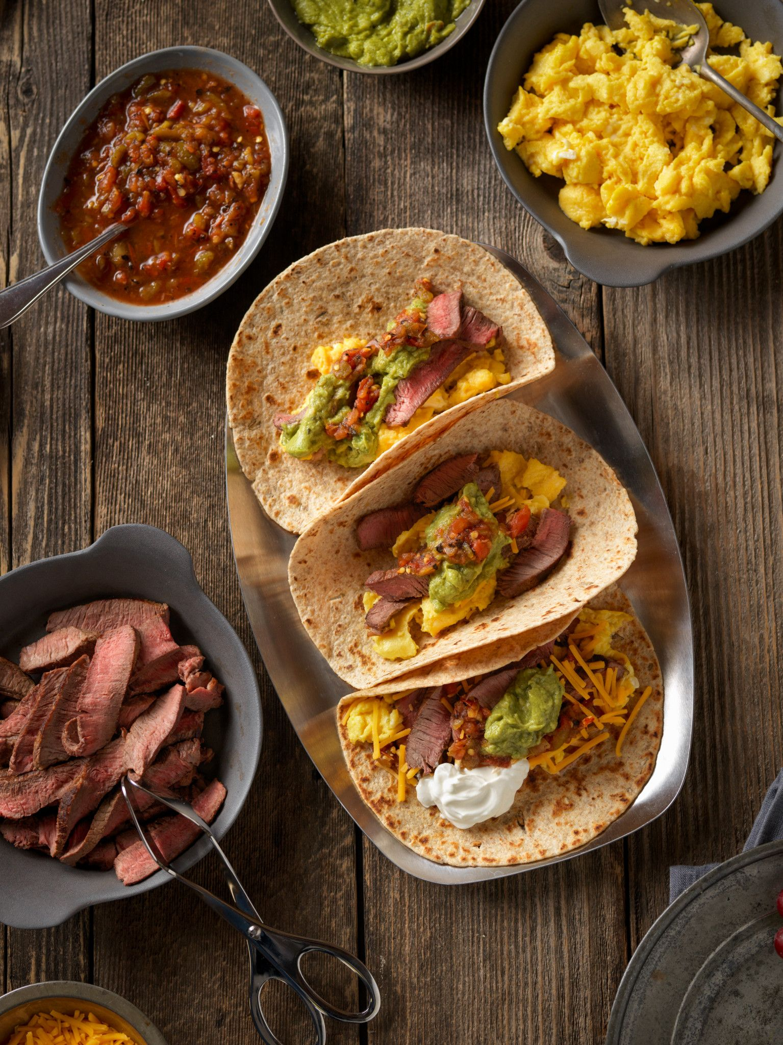 Steak And Eggs Breakfast Tacos