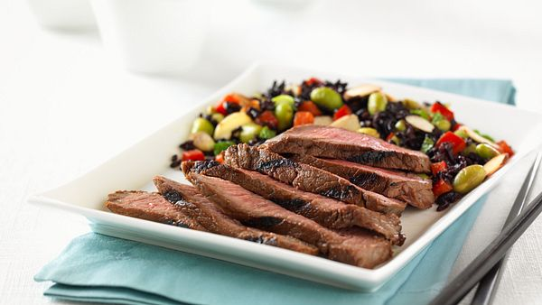 asian-spiced-steak-with-forbidden-rice-and-vegetable-salad