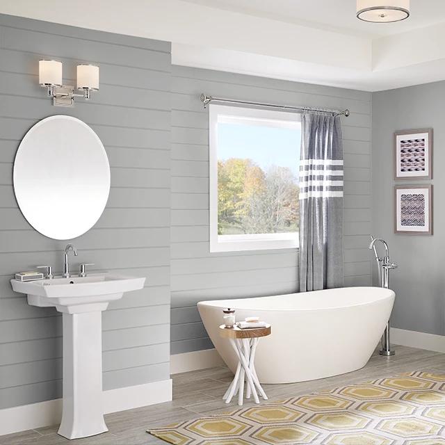 Bathroom painted in SOFT STEEL