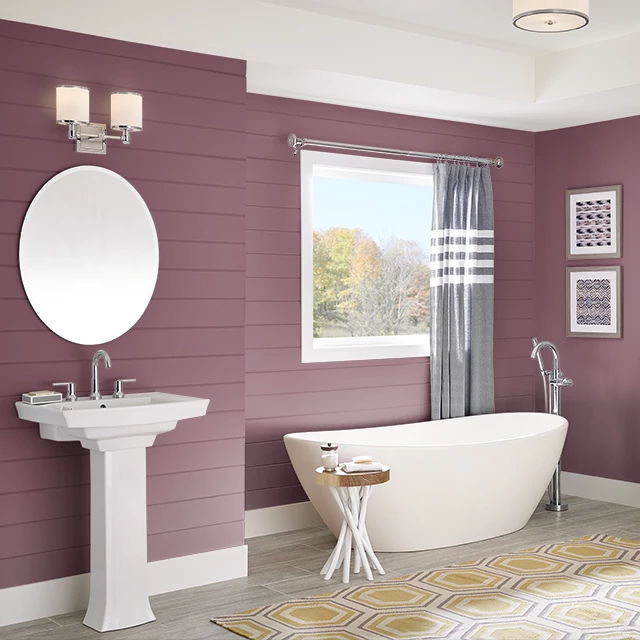 Bathroom painted in CRANBERRY SPICE