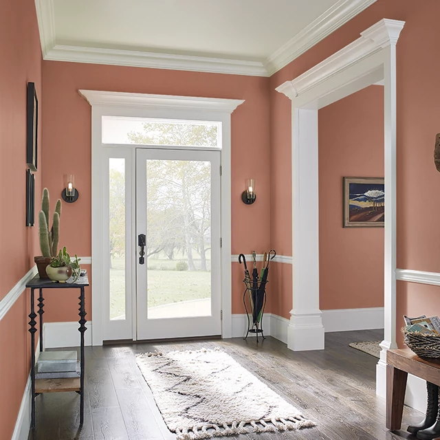 Foyer painted in SPICY TWIST