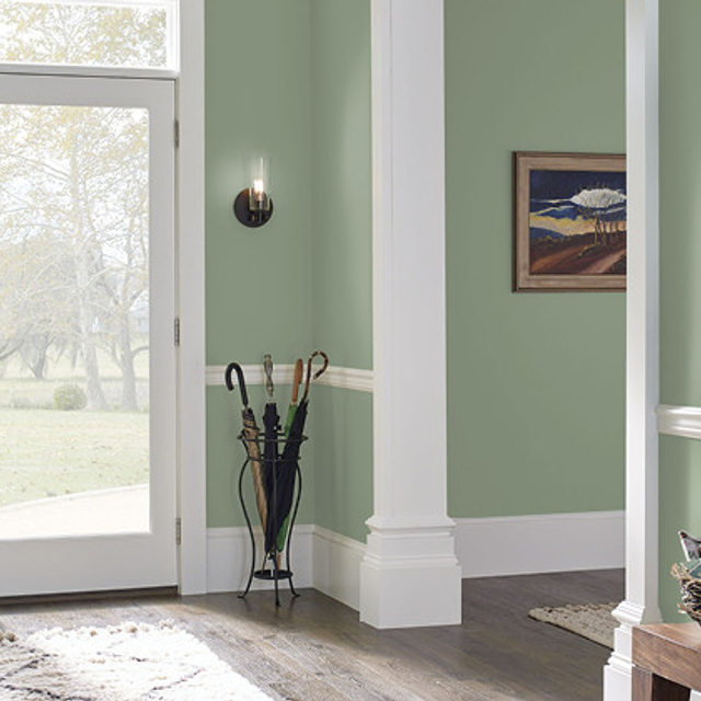 Foyer painted in CALM FOREST