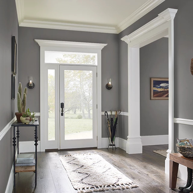 Foyer painted in GRAPHIC GRAY