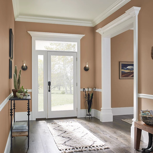 Foyer painted in BROWN BAG