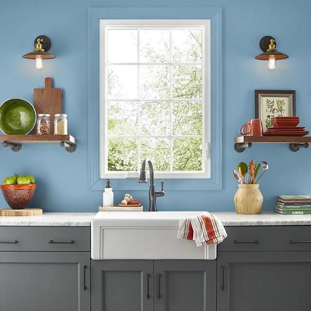 Kitchen painted in SEASIDE RETREAT