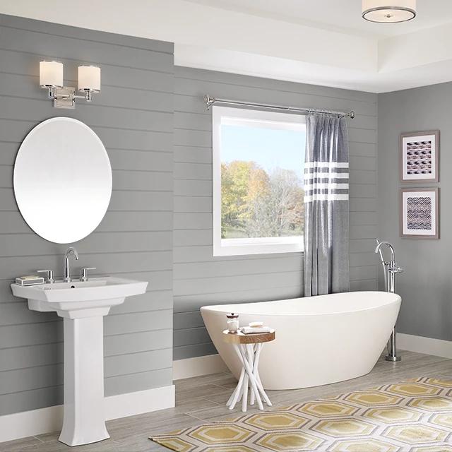 Bathroom painted in LAVENDER GRAY