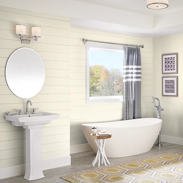 Bathroom painted in MILK AND HONEY
