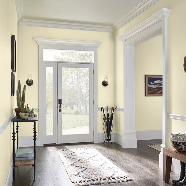 Foyer painted in MOONBEAM