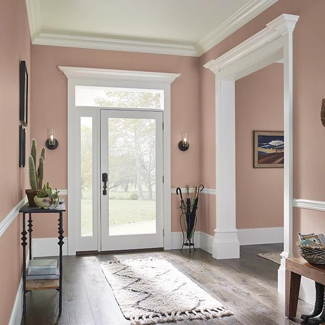Foyer painted in DUSTY BRONZE