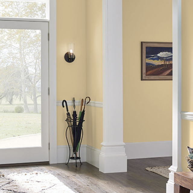 Foyer painted in YELLOW LOTUS
