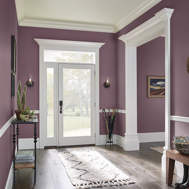 Foyer painted in AGED TO PERFECTION