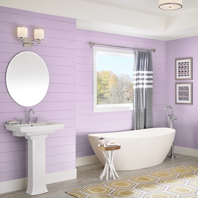 Bathroom painted in YOUTHFUL PINK