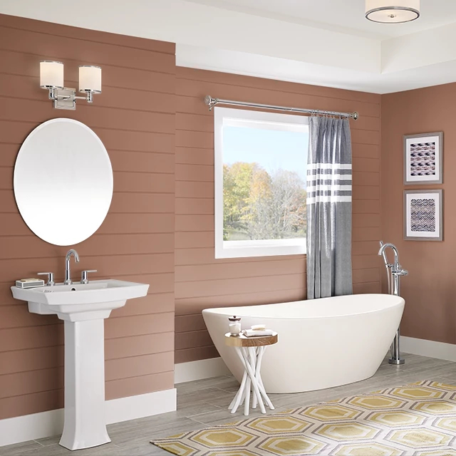 Bathroom painted in SPICED TEA