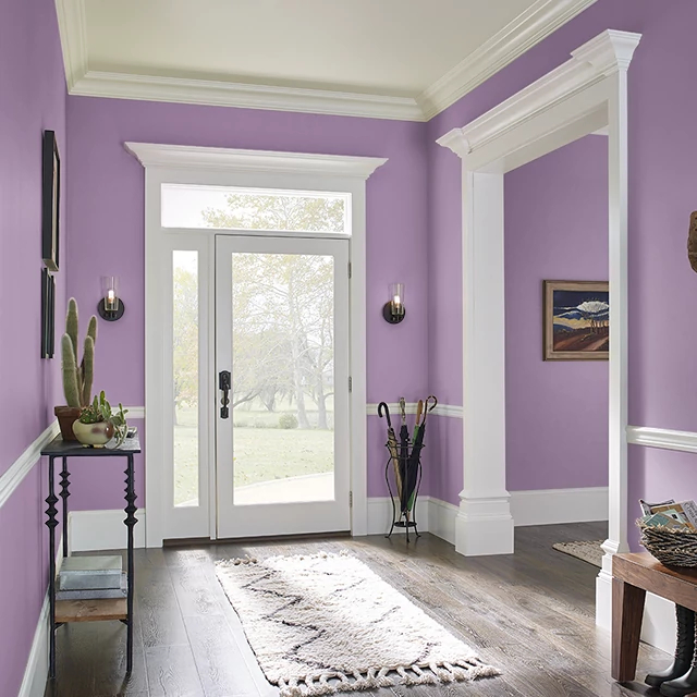 Foyer painted in FRUIT SMOOTHIE