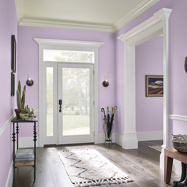 Foyer painted in SHADY PINK