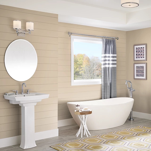 Bathroom painted in TEA WITH CREAM