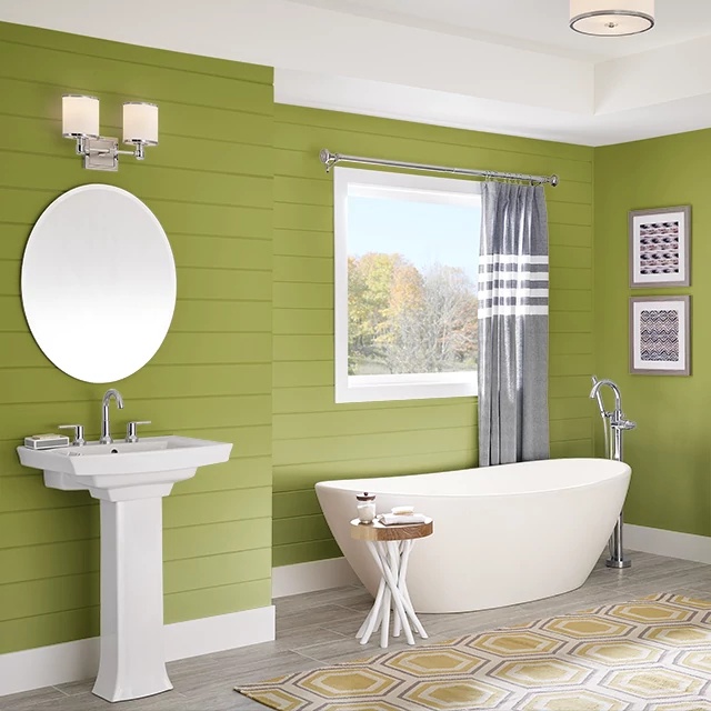 Bathroom painted in BETTER LIME