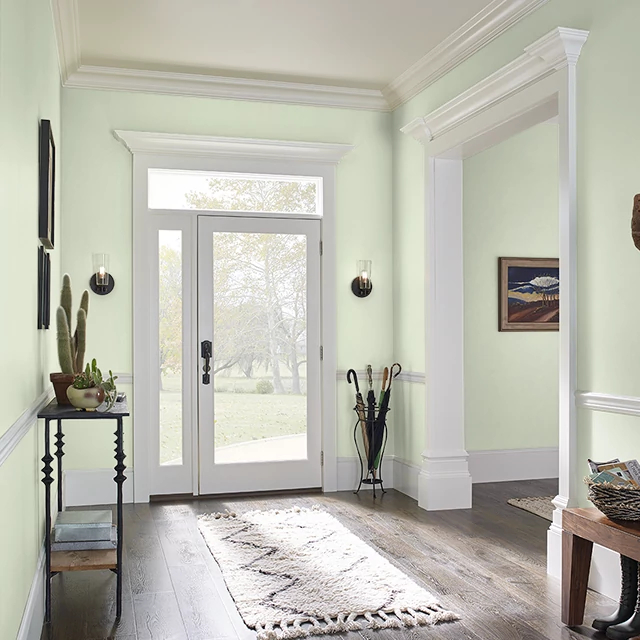 Foyer painted in FOREST LIGHT