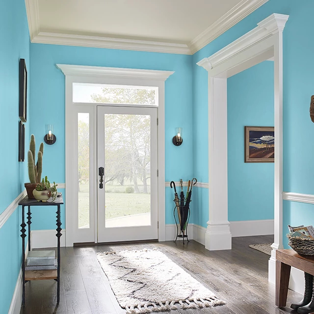 Foyer painted in MOUNTAIN CREEK