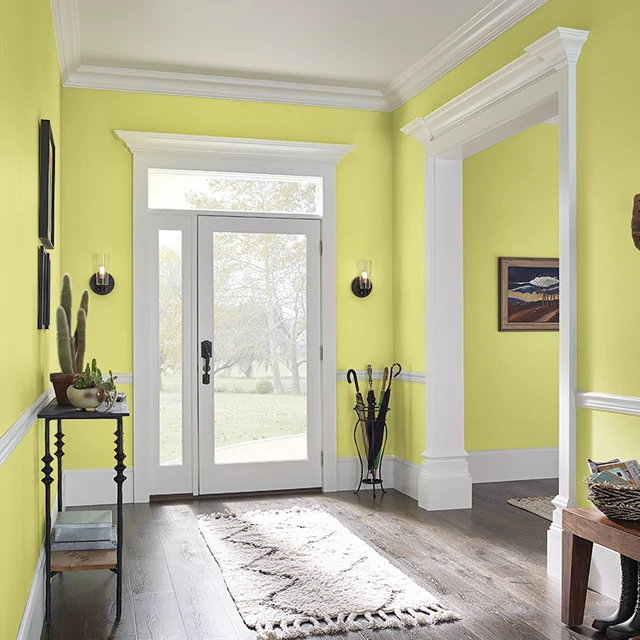 Foyer painted in LIMING