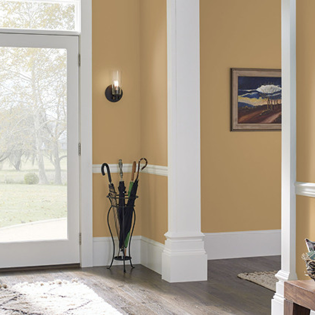 Foyer painted in GOLDEN COMPASS