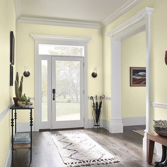 Foyer painted in PALE LEMON