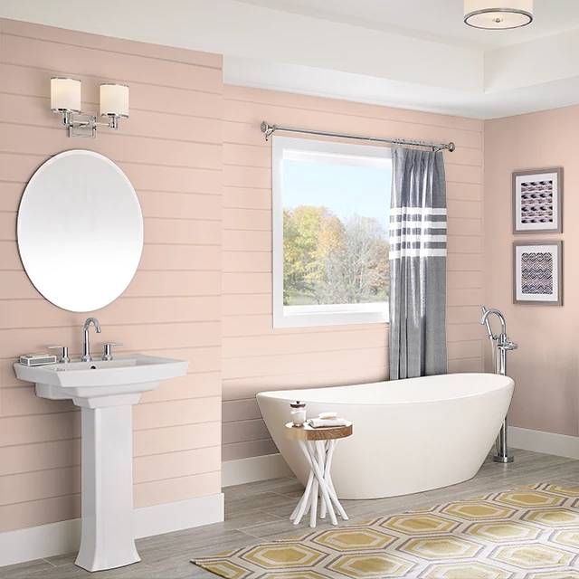 Bathroom painted in NOUVEAU APRICOT