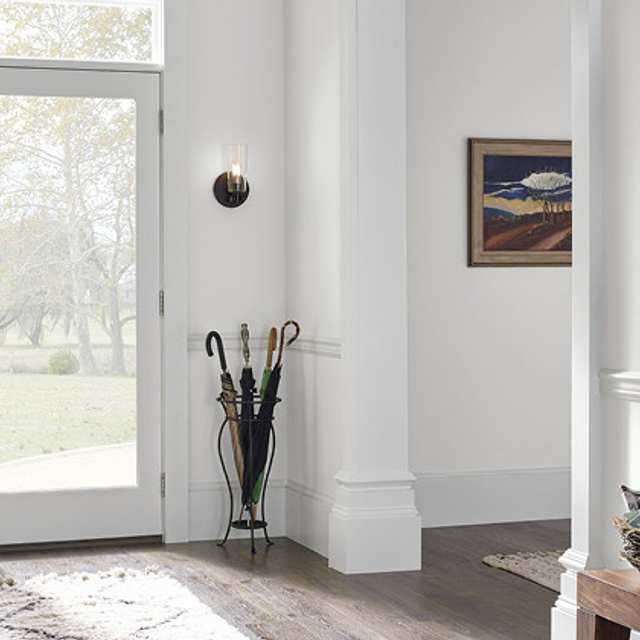 Foyer painted in ULTRA BRIGHT WHITE