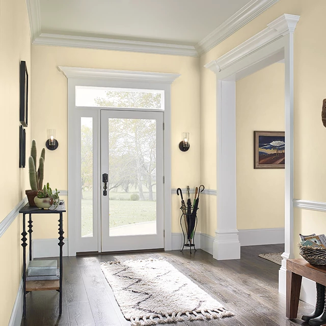 Foyer painted in LIGHT SHINE
