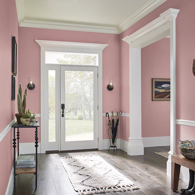 Foyer painted in PAPER DOLLS