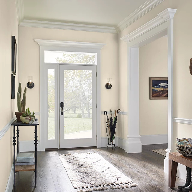 Foyer painted in PALE ALMOND