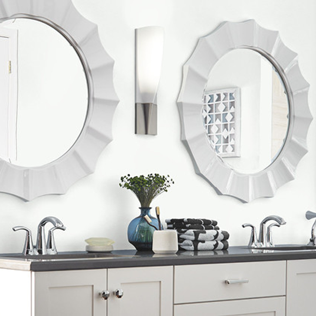 Bathroom painted in ULTRA BRIGHT WHITE