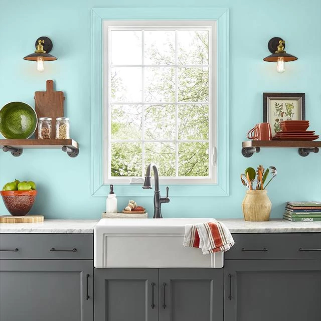 Kitchen painted in BLUES TUNES