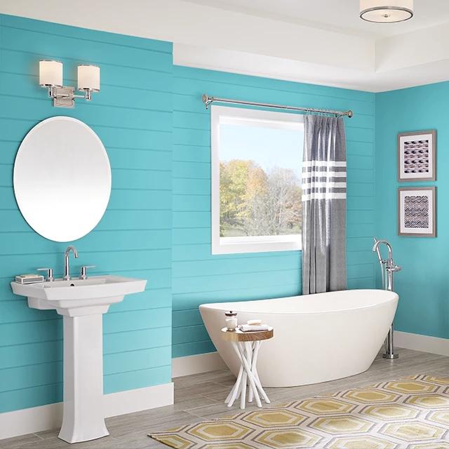 Bathroom painted in QUIET SEA