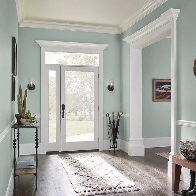 Foyer painted in SAGE POND