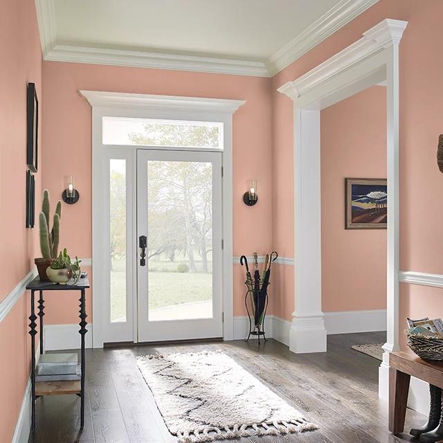 Foyer painted in ORANGE GINGER