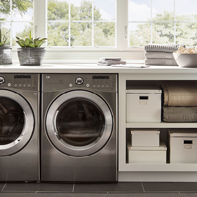 Laundry painted in CONTEMPORARY WHITE