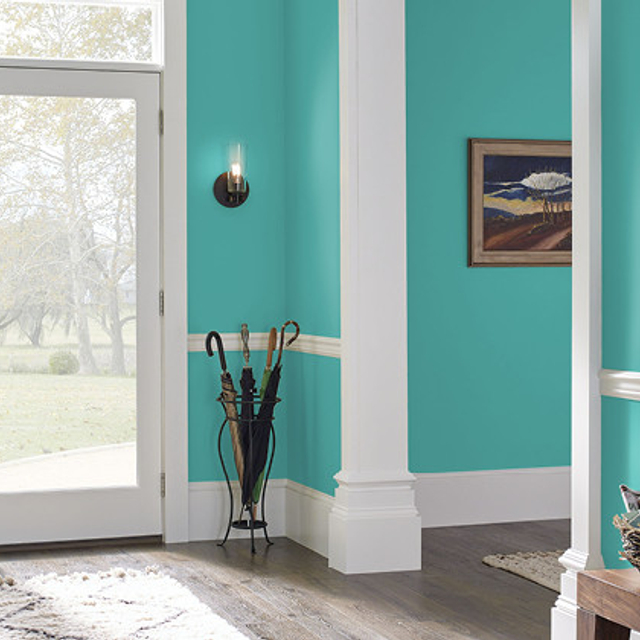 Foyer painted in TROPICAL ESCAPE