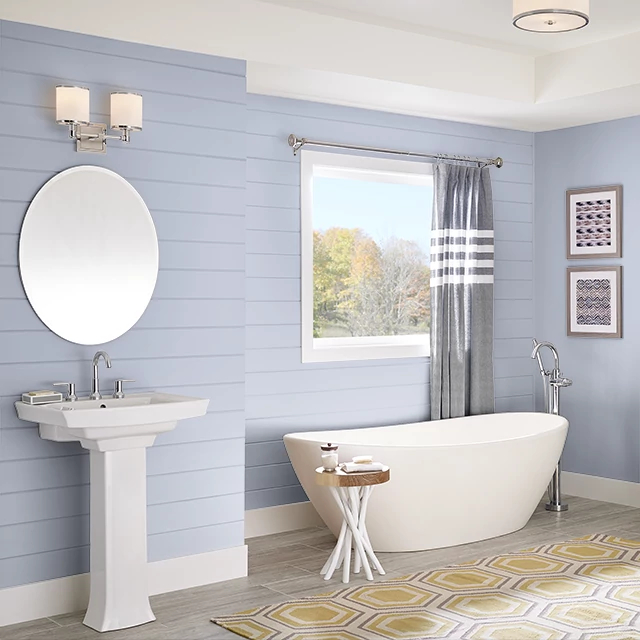 Bathroom painted in SILVER FALLS