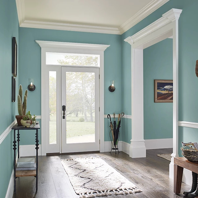 Foyer painted in VIRTUE