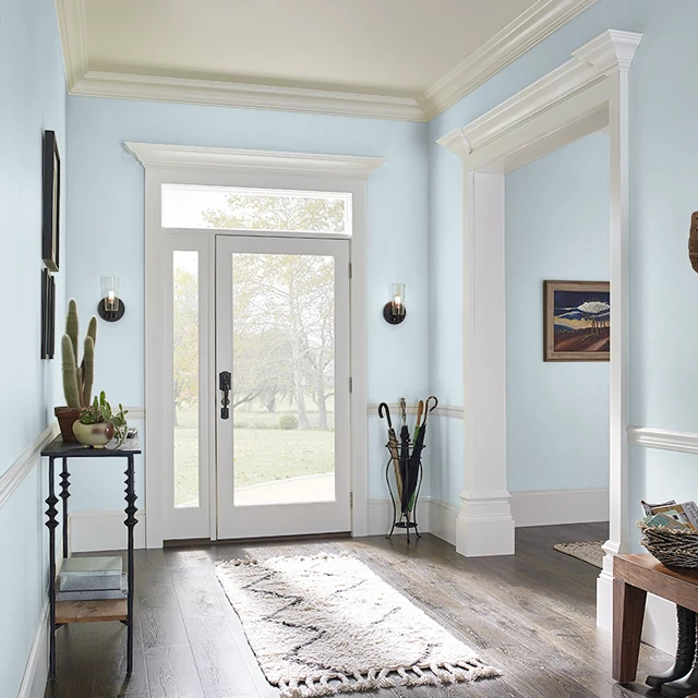 Foyer painted in HUMID WEATHER