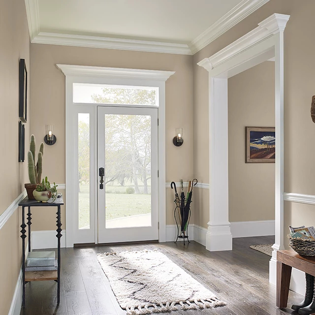 Foyer painted in ICED MOCHA