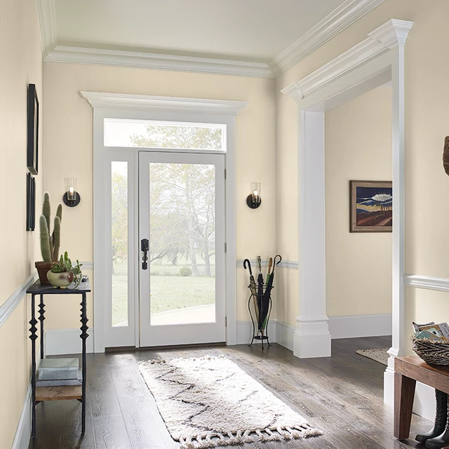 Foyer painted in YARDS OF MUSLIN